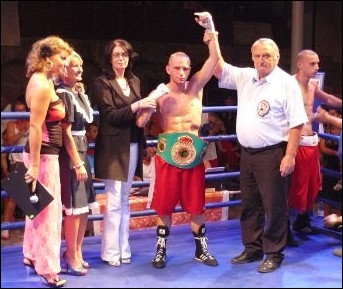New UBO Youth Super Lightweight Champion Laszlo Fazekas